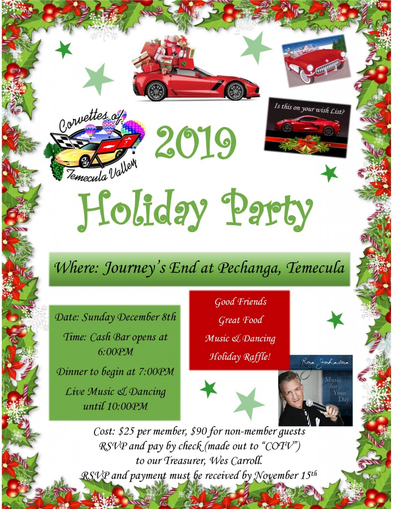 2019 Holiday Party Flyer